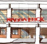This conceptual design done by Kaestle Boos Associates shows what the front of Naugatuck High School could like after renovations. The firm was chosen has the architects for the project. CONTRIBUTED