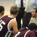 Former Naugatuck High basketball star Mike Wilson took over as head coach for the Greyhounds last year. Following a 3-17 record in his debut season as varsity coach, Wilson has led Naugatuck back to the postseason this year. –KEN MORSE