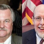 Democrat John 'Corky' Mazuerk of Wolcott, left, and Republican state Sen. Joseph Markely are seeking the state Senate seat in the 16th District, which represents Prospect, Southington, Wolcott, portions of Cheshire and Waterbury.