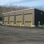 Prospect's new town garage on Cheshire Road. The garage was paid for with a $200,000 Small Town Economic Assistance Program grant from the state Department of Community and Economic Development. –RA ARCHIVE