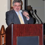 Naugatuck Economic Development Corporation Chairman Jay Carlson talks about the successes and struggles the NEDC and the borough faced over the past year during the corporation's annual meeting Nov. 13 at the Naugatuck Historical Society Museum. –LUKE MARSHALL