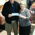 Grand Knight Larry Hanlon, of the Naugatuck Ojeda 33 council of the Knights of Columbus, presents a $600 check to President of the Naugatuck Ecumenical Food Bank Marty-Lee Fenton Jan. 30. The food bank distributed over 119,600 meals in the last year alone to over 3,000 needy families in the Naugatuck and Beacon Falls area. The money was raised through a Taste of Naugatuck held last year involving local restaurants. The following restaurants participated in the event: Jessie Camilles, Atlantis Diner, Anna Donte Restaurant, Slainte Pub, American Pie, Nardellis Eatery, Tomo 68 Restaurant, Vinnys Pizza	, Carrie Weltons, Ayash Man, Dickeys Barbeque and Santos.