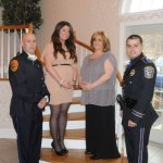 The Naugatuck Exchange Club held its 12th annual Community Champions Banquet March 12 at the Crystal Room in Naugatuck. During the banquet, the club honored Dolly Lengyel as Citizen of the Year, John DeBisschop as Firefighter of the Year, Andre Moutela as Police Officer of the Year and posthumously recognized MaryEllen Marques as Educator of the Year. Pictured, from left, DeBisschop, Lauren Marques, who accepted the Educator of the Year award in honor of her mother, Lengyel and Moutela.-LUKE MARSHALL