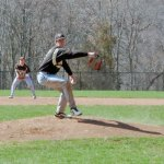 Woodland pitcher Tanner Kingsley started on the mound for the Hawks Sunday versus Plainville in the Class M state qualifying-round game in Beacon Falls and gave up four hits and two earned runs in a 6-0 loss. –FILE PHOTO