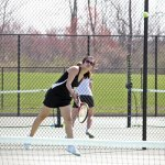 Naugatuck's No. 1 singles player Hannah Kim made the best showing of any Greyhound in the individual NVL girls tennis tournament. Kim made a run to the quarterfinals before falling to Seymour's Elli Emmanouil. –FILE PHOTO