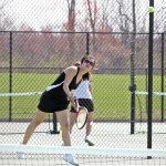 Naugatuck junior Hannah Kim led the Greyhounds as the team's No. 1 singles player. Naugatuck did not have a senior on the roster and exceeded expectations with a 10-7 mark in the NVL. –FILE PHOTO