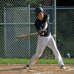 Posts 194-25's Nathan Clarke pops out in the first inning Tuesday night versus Oxford in Beacon Falls. –KYLE BRENNAN