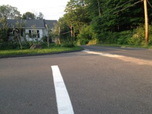 This intersection at the corner of Straitsville Road and Porter Hill Road in Prospect is where an 84-year-old Prospect man died in a car accident Saturday. His family, which lives on the road, has been fighting to get the sight line fixed on the road for several years. –RA ARCHIVE