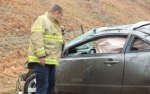 Woman ejected from car on Route 8