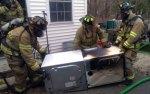 Beacon Hose knocks down dryer fire