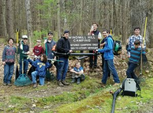 Boys Scouts from Troop 102 in Naugatuck spent the weekend of April 29 at White Memorial Conservation Center in Litchfield camping, cooking, and completing a good turn project. The scouts spent some of the weekend raking, picking up trash, and preparing camping areas for families and groups to enjoy. –CONTRIBUTED