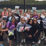 The Woodland Regional High School girls tennis team recently held a collection of everyday necessities, like soap, toothpaste and shampoo, to donate to The Umbrella Center for Domestic Violence Services, which provides services for victims and their children in 19 towns, including Beacon Falls. –CONTRIBUTED