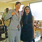 Naugatuck High School sophomore Saumya Shah shadowed Superintendent of Schools Sharon Locks May 26 during NHS Student Government Day. High school students spent the day with government employees. -CONTRIBUTED