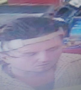 Police released this surveillance photo of the suspect in the theft of a leaf blower at a gas station Thursday in Naugatuck. –CONTRIBUTED
