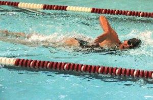 Naugatuck's Addison Best competes in the 200 freestyle against Torrington Sept. 16 at Naugatuck High School. Naugatuck won the meet, 96-82. –LUKE MARSHALL