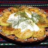 Пържени тиквички с млечен сос