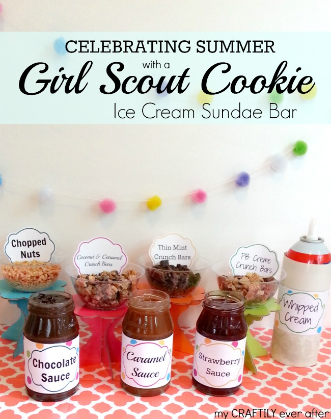 celebrate summer with a girl scout cookie ice cream sundae bar #shop