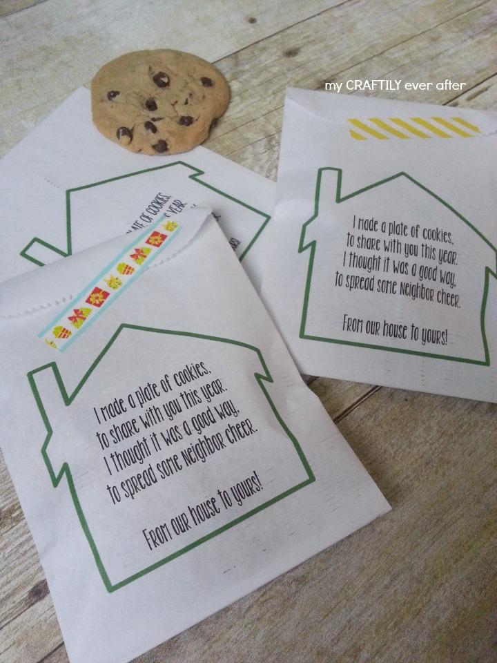 printable neighbor gift bags