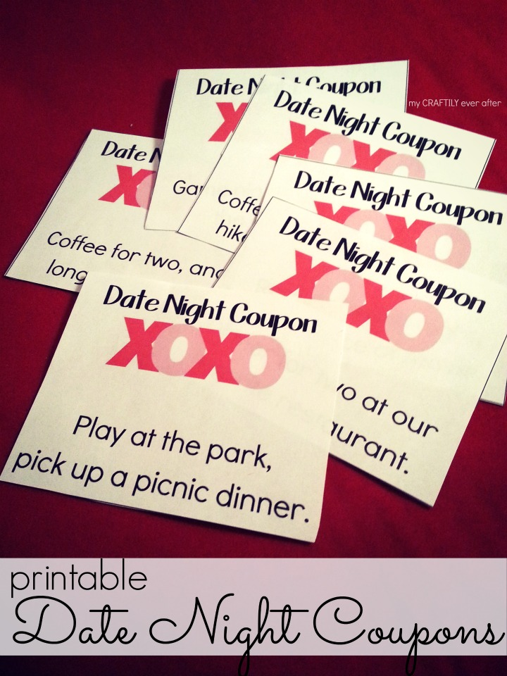 Printable Valentines Date Night Coupons
