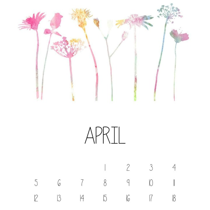 April Calendar Featured
