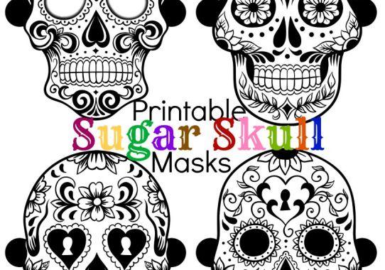 printable sugar skull masks