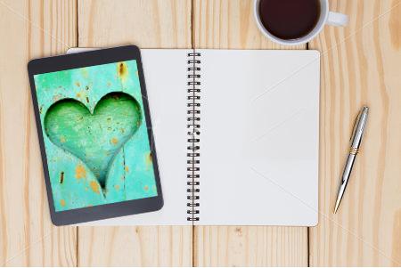 Heart wood desktop or mobile wallpaper