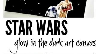 star wars glow in the dark art canvas