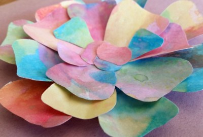 three dimensional flowers for an eric carle garden