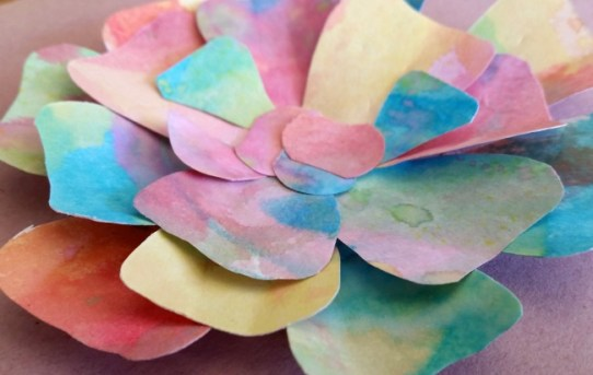 three dimensional flowers for an eric carle garden