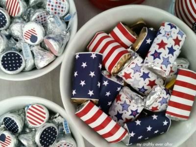printable patriotic party candy bowls
