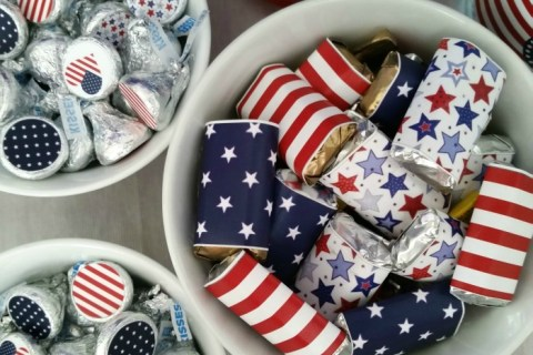 printable patriotic party candy bowls