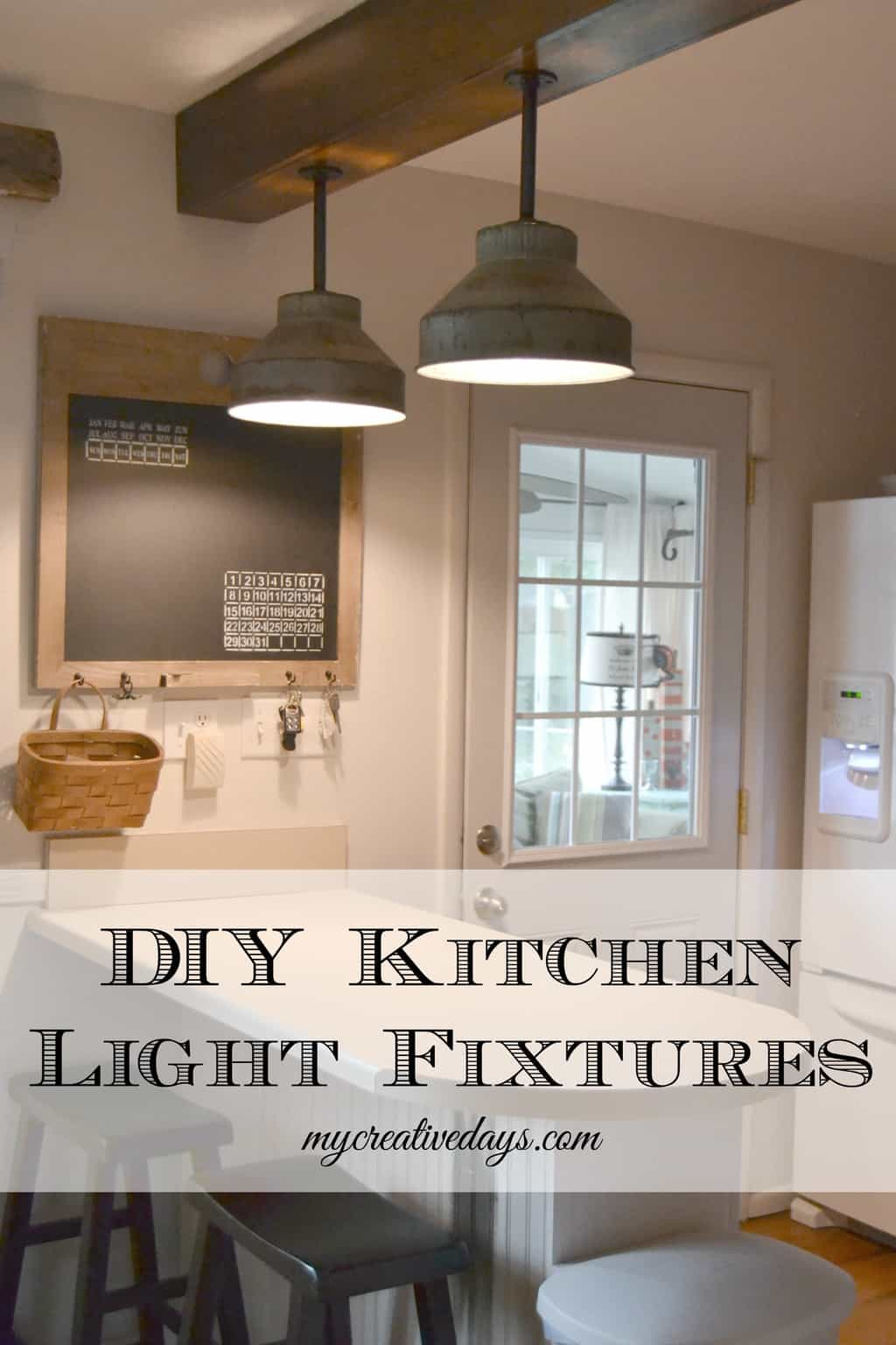 diy kitchen light fixtures part 2 kitchen light Pin this DIY Kitchen Light Fixtures Part 2 mycreativedays com