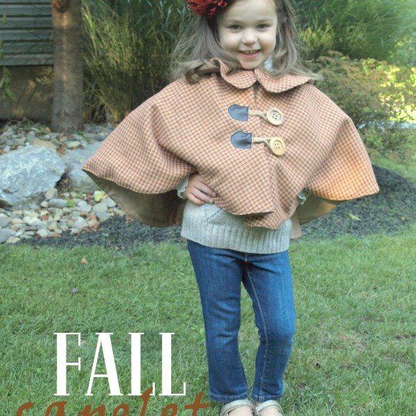 FALL LITTLE GIRL CAPELET – GOING GOLD!