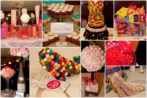 How insane are these centerpieces? They were created by Covered in Candy.