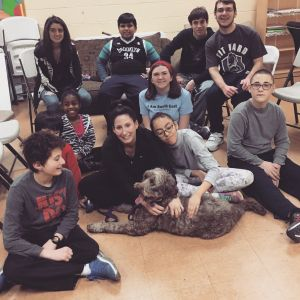 Murphy bringing the love to the New Rochelle Boys and Girls Club. (December 2015.)