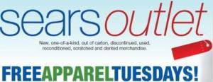 ScreenHunter 02 May. 15 08.36 300x116 Sears Outlet ~ FREE Apparel Tuesday