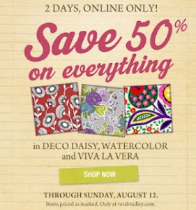 very 281x300 Vera Bradley  50% off Sale