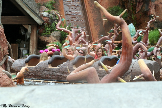 Getting ready to ride Splash Mountain again!