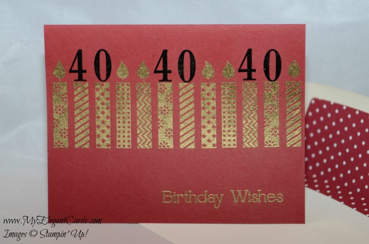 birthday candles cherry cobbler 40