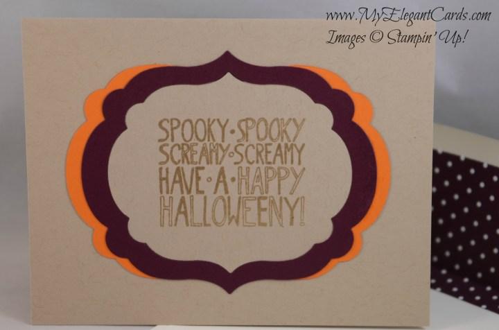 crumb cake halloweeny