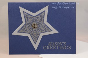 Stampin' Up! Bright and Beautiful star on night of navy