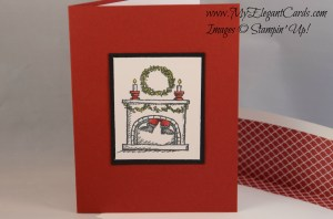 Stampin' Up! Get your santa on in cherry cobbler
