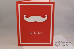 Stampin' Up! Good Greetings on real red with moustache