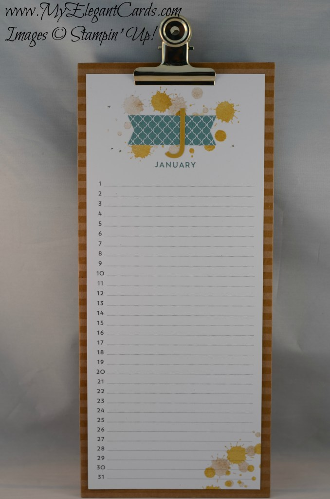 Stampin' Up! Perpetual Birthday Calendar