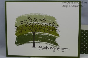 Stampin' Up! Thinking of You, Work of Art, Sheltering Tree