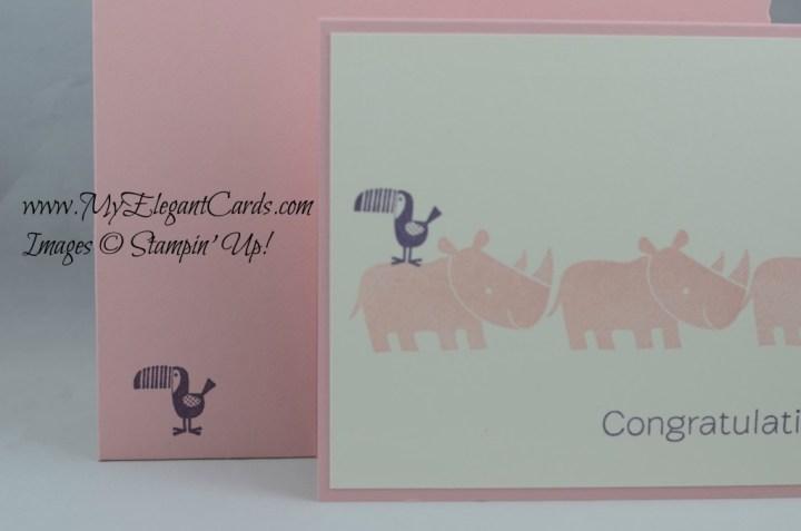 Stampin' Up! Zoo Babies blushing bride envelope