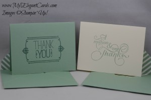 Stampin' Up! Because you care and Million & One
