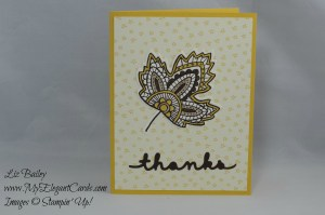 Stampin' Up! Lighthearted Leaves and Sweet Li'l Things DSP