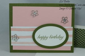 Stampin' Up! Birthday Blossoms and Birthday Bouquet DSP and Botanical Garden Jewels