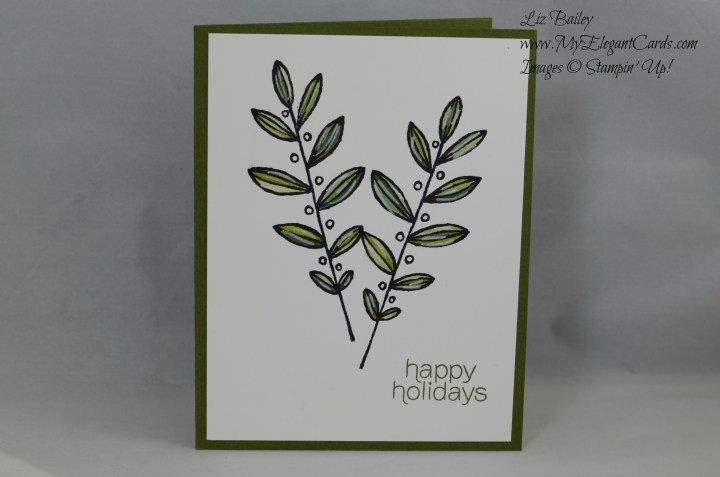 Stampin' Up! Lighthearted Leaves and Mistletoe and Holly